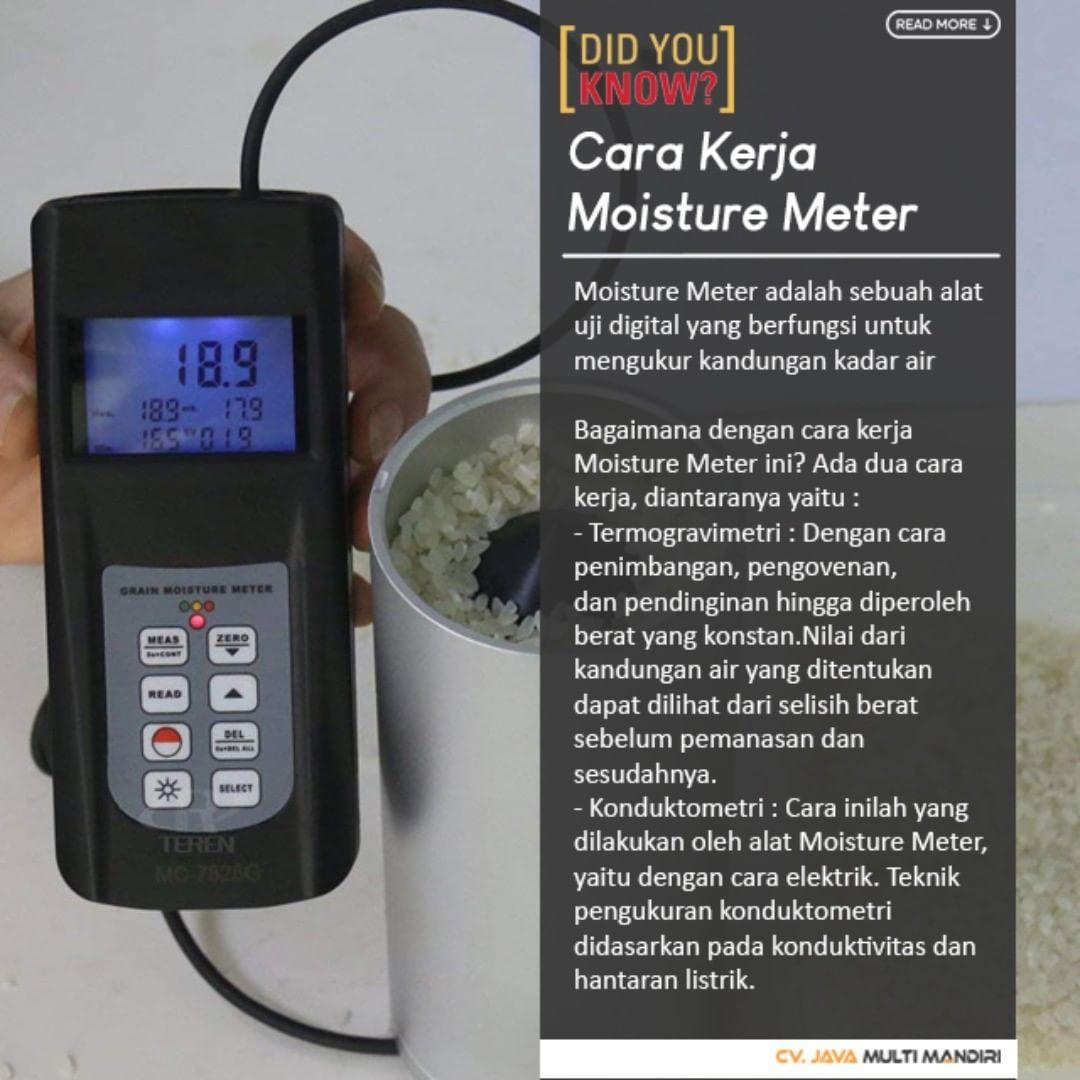 Cara Kerja Moisture Meter