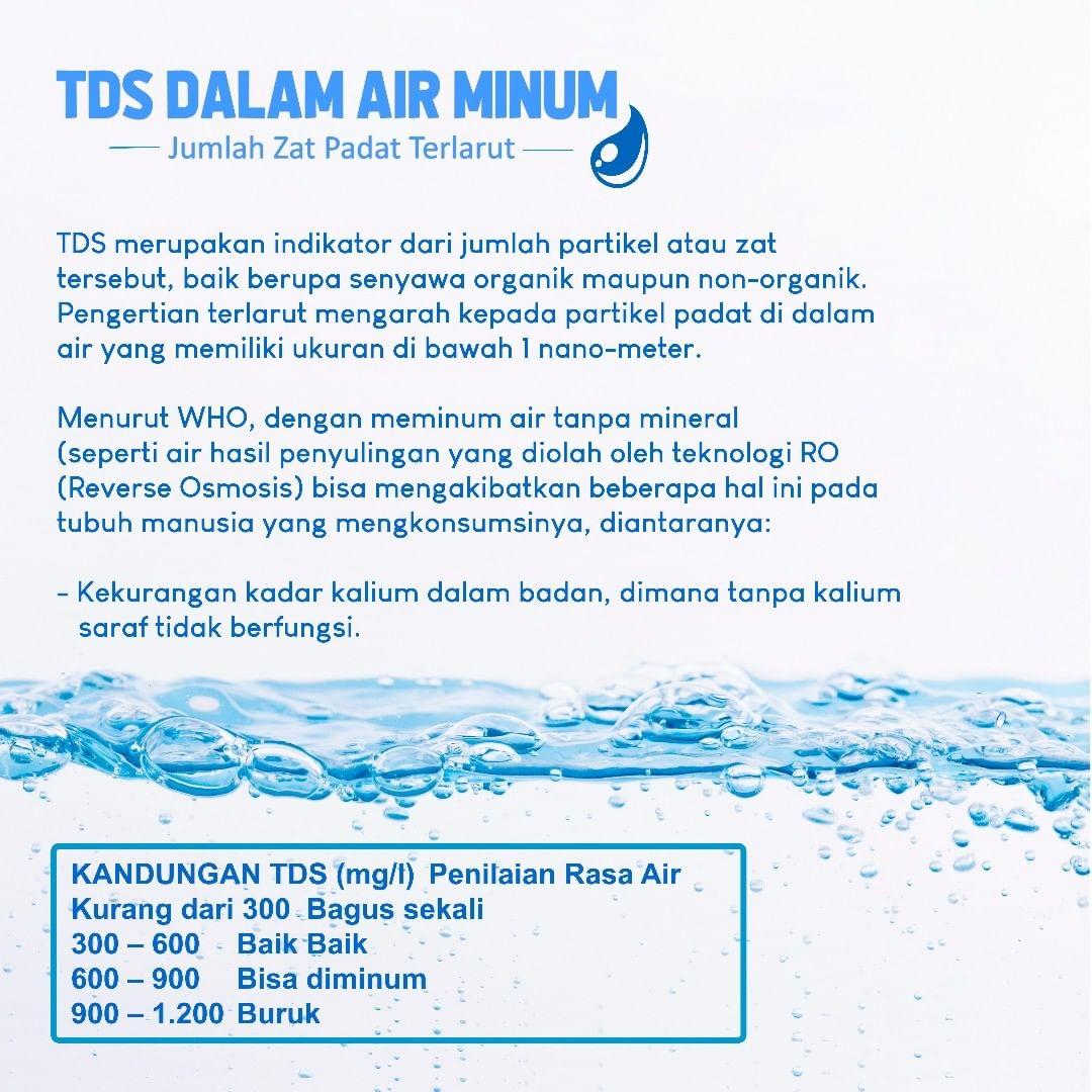 Cara Menurunkan Kadar TDS dalam Air Minum