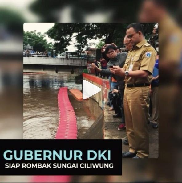 Gubernur DKI Siap Rombak Sungai Ciliwung