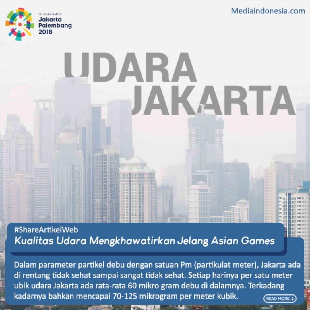Kualitas Udara Mengkhawatirkan Jelang Asian Games