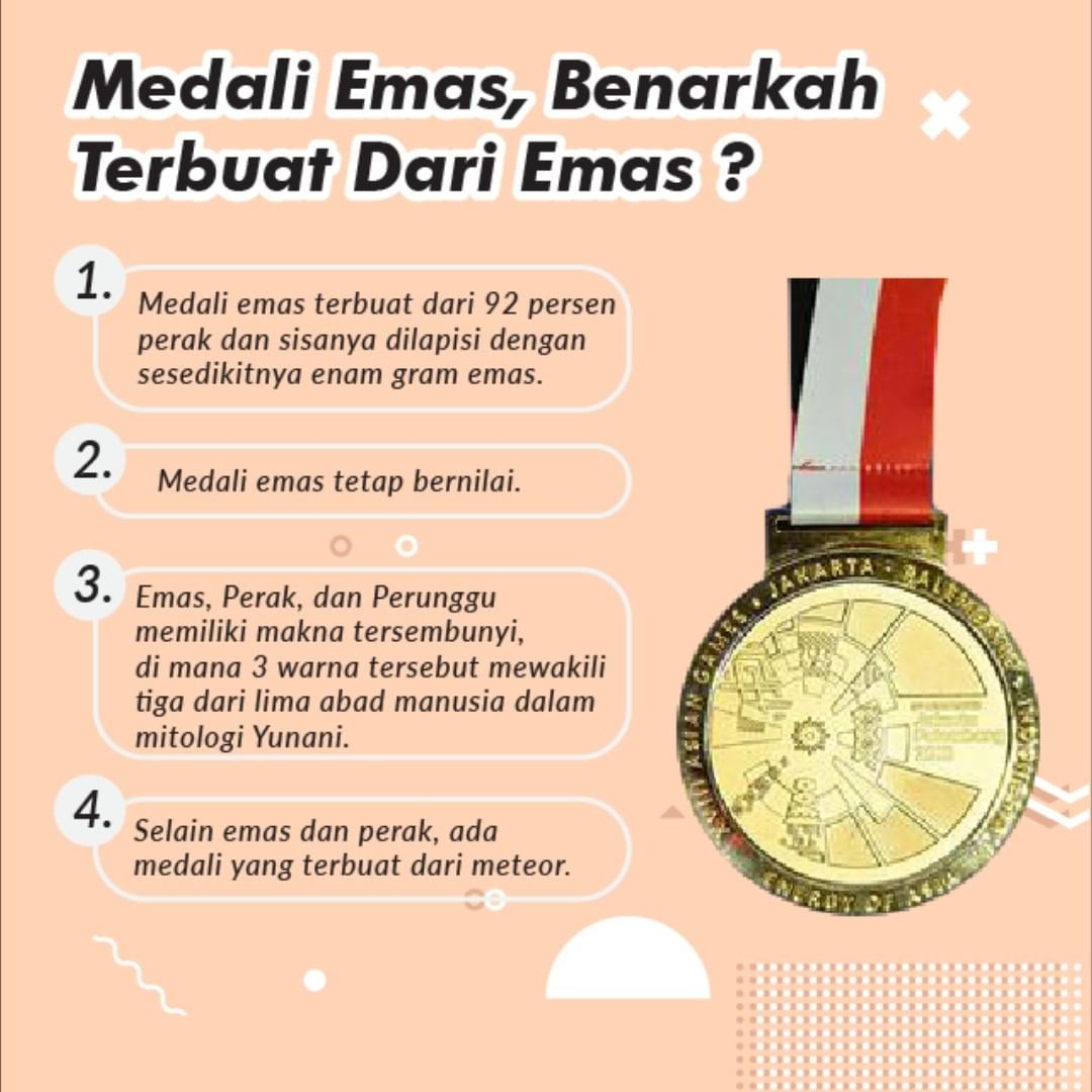 Medali Emas, Benarkah Terbuat Dari Emas?