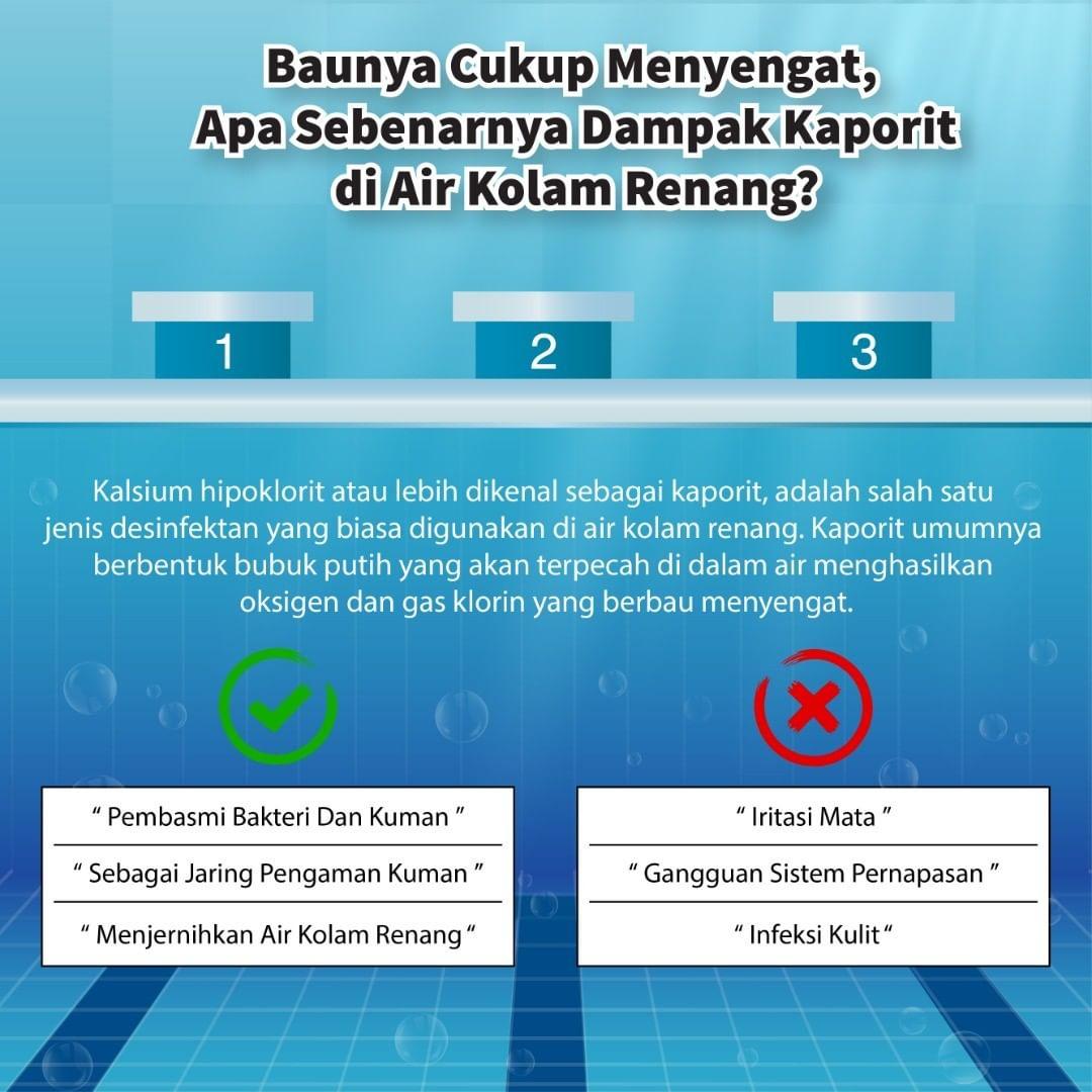 Apa Sebenarnya Dampak Kaporit di Air Kolam Renang?